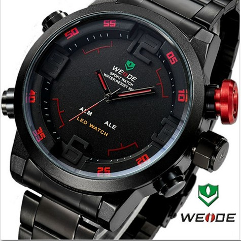 Pánské hodinky WEIDE MILITARY RED